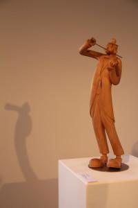 a Daniel BON-Le clown violoniste- tilleul