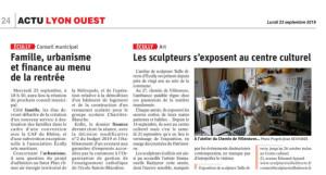 23.09.19-Le Progrès-Conseil municipal-Exposition des sculpteurs